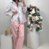 пижама штаны и рубашка хлопок Лд 107