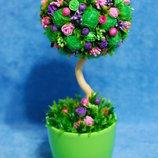 Топиарий - дерево счастья, подарок на день рождения, 8 Марта