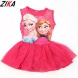Платье детское Эльза и Анна 3-6 лет. Нарядное детское платье