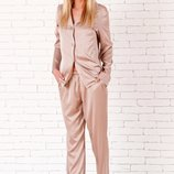 шёлковая пижама штаны и рубашка Аа 09