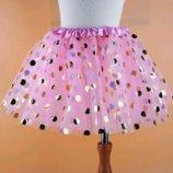 Детская нарядная юбочка, 4- 5 лет, 2 цвета, новая