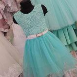 Новое красивое нежное мятное платья. в наличии