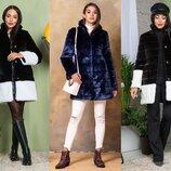Женская шуба-пальто 2-024 из искусственной норки, р.42-54