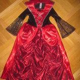 Карнавальное платье Колдунья, Ведьмочка, Королева Ночи на 5-6лет, 110-116см George