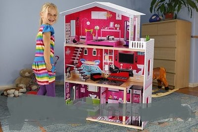 Игровой кукольный домик 4118 Malibu лифт Польша. 12