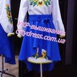 Женское платье с вышивкой пошив под заказ