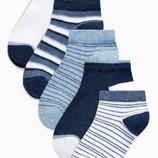 Набор из пяти пар спортивных носков в полоску Мальчики