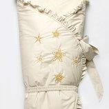 Конверт-Одеяло зимний на меху Сказка молочный