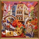 Набор для вышивания бисером Венеция.Зазеркалье Дк1080 , 35 35см..
