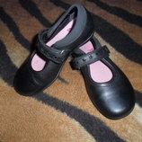 Кожаные туфли Кларкс Clarks девочке 25-26р 15.5-16см стелька