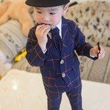 Стильный костюм для мальчика брюки пиджак двойка узкачи 80, 90, 100, 110, 120 см в наличии