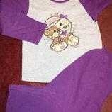 Пижама с начесиком котоновая на ребенка 7-8 лет в прекрасном состоянии
