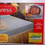 Водонепроницаемая простынь-наматрасник Caress на большую кровать