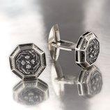 Запонки серебро 925