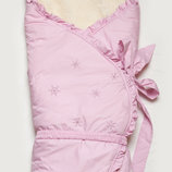 Конверт-Одеяло зимний на меху Сказка розовый