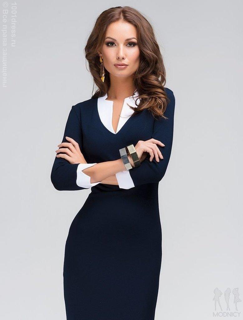 Строгое офисное сексуальное платье