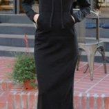 Длинное теплое спортивное платье 2 цвета Sports Girl AL3010