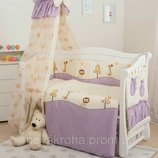 Защита в детскую кроватку с балдахином Aria Twin