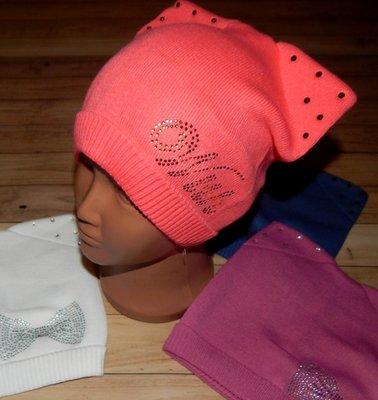 Вязані дитячі шапочки Кішечка 5-9 років  77 грн - шапки ecd203ef833fd