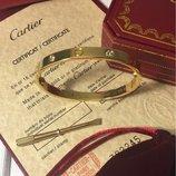 Браслет Cartier лимонное золото