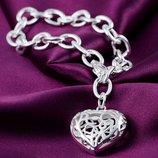 Подарок на день влюбленных сердце браслет