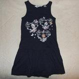 платье хб Нм сток 4-6лет большой выбор одежды 1-16лет