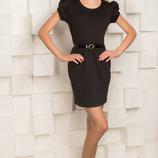 Трикотажное школьное платье для девочек 122-152р