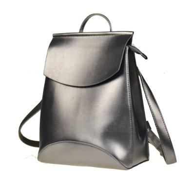 f5a6be5f047c Стильный качественный рюкзак-сумка с искусственной кожи, металлик, новая