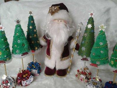 интерьерная кукла ручной работы Дед Мороз