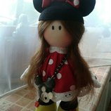 Интерьерная кукла ручной работы или Кукла - Снежка - Minnie Mouse