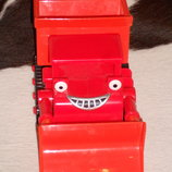 шикарная игрушка красный автомобиль-бульдозер из серии машины-помощники
