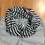 Фирменный шарф в морском стиле Glanc Accessorize,шарфик в полоску подарок