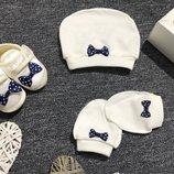 Набор пинетки шапочка царапки