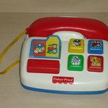 Телефон Фишер Прайс, Fisher-Price со звуковыми эффектами.