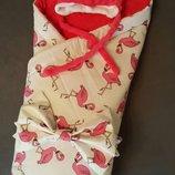 Набор/комплект для новорожденных на выписку с роддома-конверт с бантом,шапочка,для мальчика,девочки
