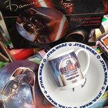 Детский набор посуды звездные войны из 3-х предметов