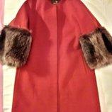Пальто MILA NOVA из итальянскогокашемира, енот