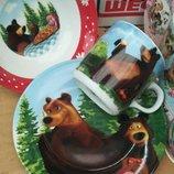 Набор посуды Маша и медведь керамика