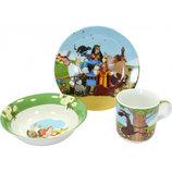 Детский набор посуды из фарфора Добрыня Никитич