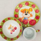 Детский набор посуды Собачка