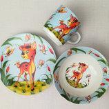 Набор посуды из керамики для малышей Бемби
