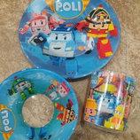 Детский набор посуды Робокар Поли из 3-х предметов