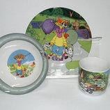 Детский набор посуды из керамики Леопольд, 3 предмета