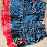 Юбка джинсовая с Минни Маус