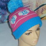 Теплая зимняя шапка,7-10 лет 52-54 см от TU,сток