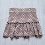 Стильная трикотажная юбка в горох для девочки. Matalan. Размер 4-5 лет