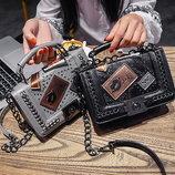 Сумка реплика Chanel Черная Серая