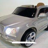 Детский электромобиль джип Bambi JJ2158 EBLRS-11 серебро с Ева колесами и кожаным сиденьем