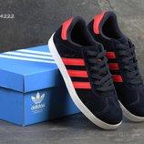 Кроссовки мужские Adidas Gazelle синие с красным