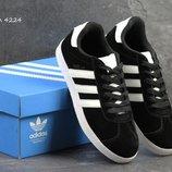 Кроссовки мужские Adidas Gazelle черные с белым